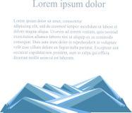 Background with mountain landscape below on white. Blue hills, lorem ipsum Stock Photo