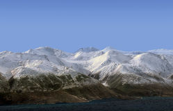 Background with mountain landscape on the coast Royalty Free Stock Images