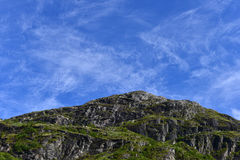 Background: Mountain under blue sky Royalty Free Stock Photography