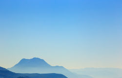 Background of mountains and blue sky Royalty Free Stock Photo
