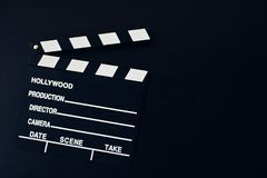 Background with a movie clapboard. royalty free stock photos