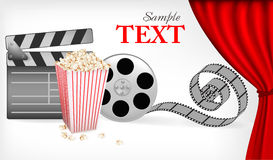 Background of movie related items. Vector. Illustration Royalty Free Stock Photography