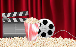Background of movie related items. Vector. Royalty Free Stock Photos
