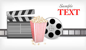 Background with movie time. Vector. Illustration Stock Photography