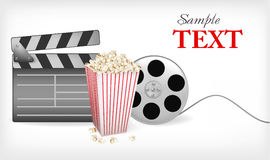 Background with movie time. Vector. Royalty Free Stock Photo