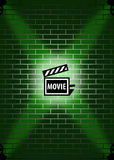 Background movie with wall texture Stock Photography
