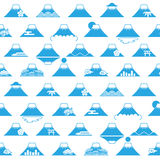 Background of Mt. Fuji with Japanese illustrations. Royalty Free Stock Photography
