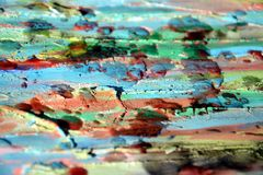 Background. Playful forms, wax, paint, watercolor hues Stock Images