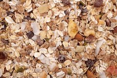Background of muesli - cereal with seeds, fruit and nuts Stock Image
