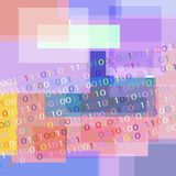 BACKGROUND FROM THE BINARY CODE IMAGE. vector illustration