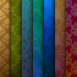 Background of multi-colored curtains Stock Photography