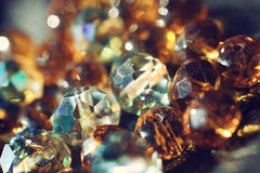 Background with multi-colored glass beads. Abstract shiny background with multi-colored glass beads close-up Royalty Free Stock Image