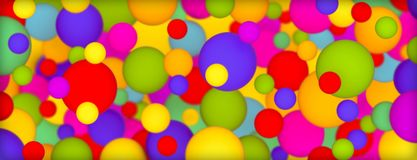 Background with multi-colored matte balls. 3D rendering Royalty Free Stock Photography
