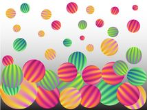 Background of multi-colored spheres.  stock illustration