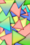 Background from multi-colored triangles Stock Photo