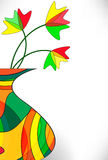 Background from a multi-colored vase Stock Image