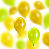 Background from multi-coloured balloons Royalty Free Stock Photo
