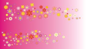 Background with multi-coloured colours. Pink background with multi-coloured flowers. Illustration royalty free illustration