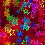 Background with multicolor stars. Royalty Free Stock Image