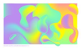 Background multicolored abstract vector holographic gradient 3D background  Stock Photography