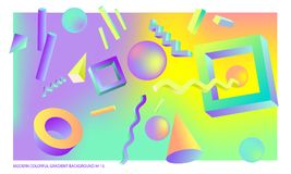 Background multicolored abstract vector holographic gradient 3D background   Royalty Free Stock Photos