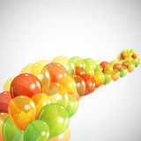 Background with multicolored balloons Stock Photo