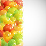 Background with multicolored balloons Stock Images