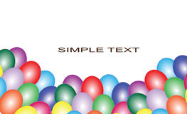 Background with multicolored balloons Royalty Free Stock Photography