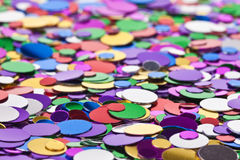 Background of multicolored confetti Royalty Free Stock Photography