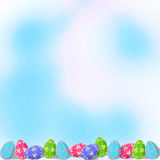 Background  with multicolored eggs to Easter Royalty Free Stock Photo
