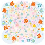 Background with multicolored flowers Royalty Free Stock Photo