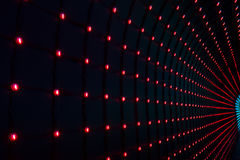 Background with multicolored LEDs in perspective Stock Photos