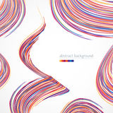 Background with multicolored lines. Background with bright multicolored lines and spiral Royalty Free Stock Photos