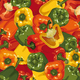 Background of multicolored peppers Stock Photos