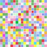 Background of multicolored squares on white. Background of various colored squares of different sizes on white for text royalty free illustration