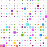 Background of multicolored squares on white. Background of various colored squares of different sizes on white for text stock illustration