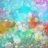 Background of multicolored vivid bubbles shadows Royalty Free Stock Image