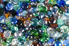 Background of multicoloured glass drops Stock Image