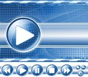 Background with multimedia player Stock Images