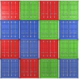 Background of multiple color freight containers Royalty Free Stock Images