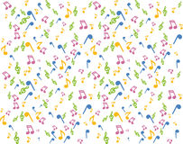 Background music. With notes,  illustration Stock Photos