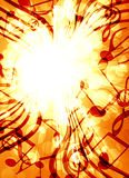 Background with music. Abstract flowing fire background with music Royalty Free Stock Photos