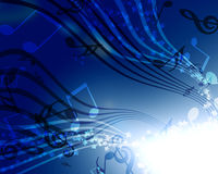 Background with music Royalty Free Stock Photography