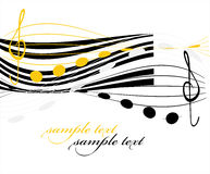 Background with music. Decorative background with music and note Royalty Free Stock Photos