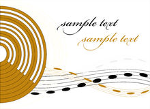 Background with music. Decorative background with music and note Royalty Free Stock Image
