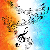 Background music. Autumn background music. Winter background music Stock Photo
