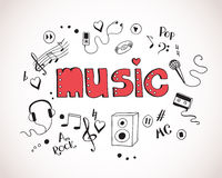 Background with music elements Royalty Free Stock Image