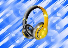 Background music with gradient lines. royalty free illustration