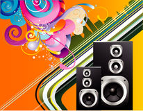Background music illustration Stock Photos