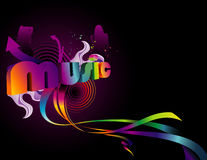 Background music illustration Royalty Free Stock Images